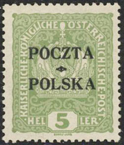1919 5h KrakowVF MLH Certified - Polish Stamp