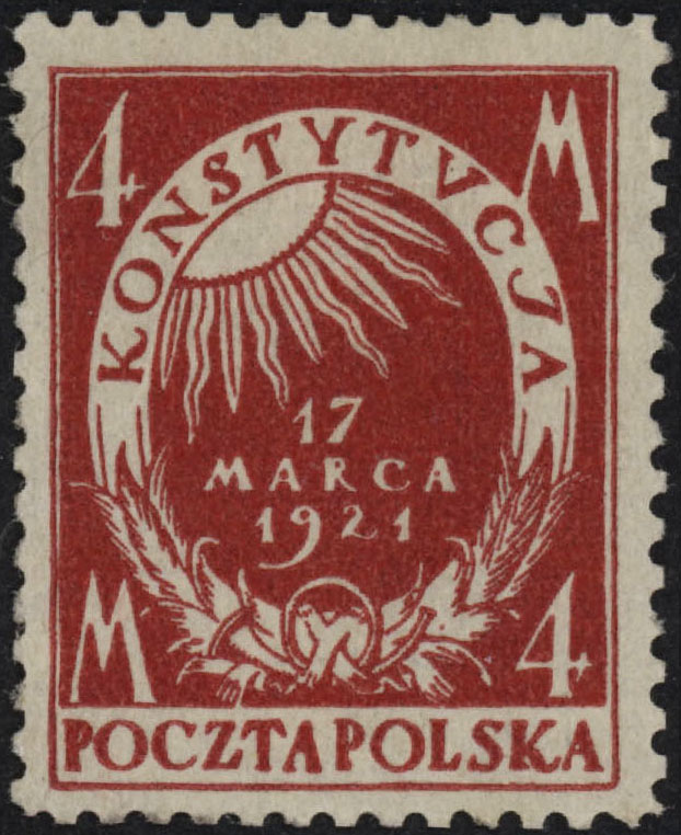 Scott: Poland 158aCarmine Color Error VF MLH Walocha Certificate - Polish Stamp